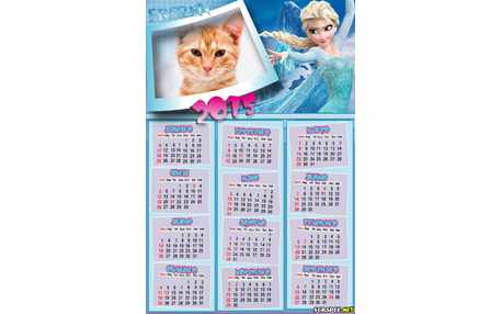 Moldura - Calendario Ana Do Filme Frozen