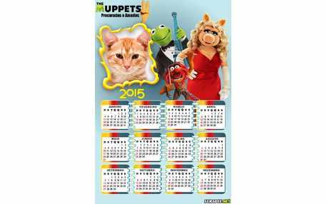 Moldura - Calendario Muppets 2015