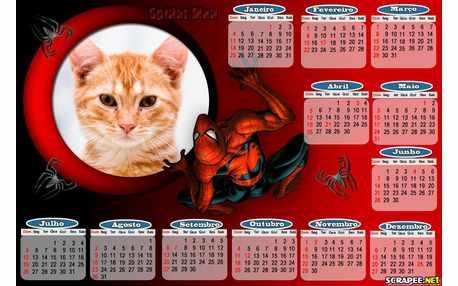 Moldura - Calendario Spider Man 2015
