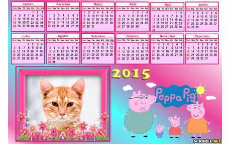 Moldura - Calendario Peppa Pig