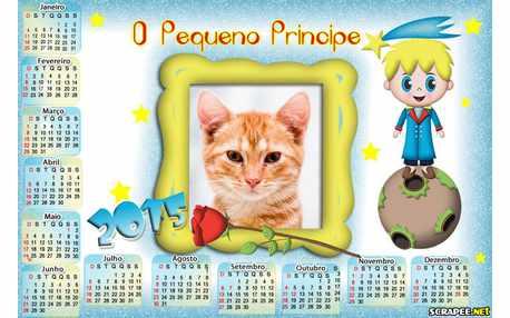 Moldura - Calendario Pequeno Principe