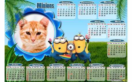 Moldura - Calendario Minions