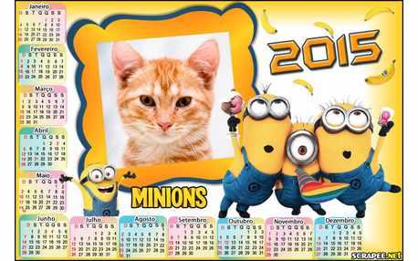 Moldura - Minions Calendario 2015