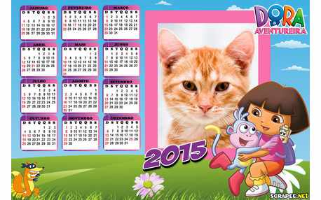Moldura - Dora Calendario 2015
