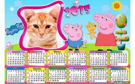 Moldura - Peppa Pig Calendario 2015