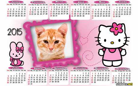 Moldura - Hello Kitty Calendario 2015