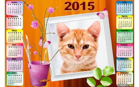 Moldura - Calendario Vaso De Flor 2015
