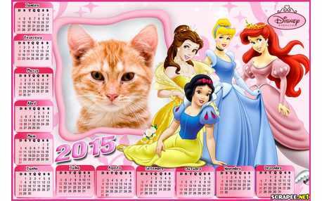 Moldura - Calendario Das Princesas 2015