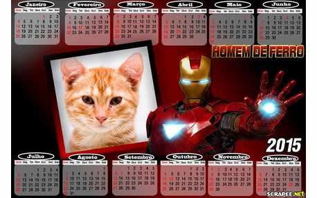 Moldura - Calendario Homem De Ferro
