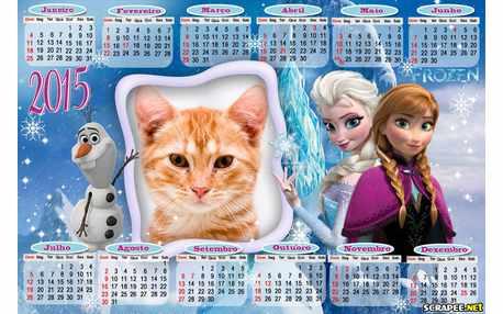 Moldura - Ana E Elza Frozen Calendario