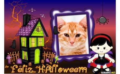 Moldura - Bruxinha De Halloween
