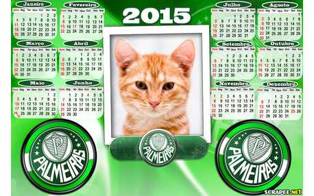 Moldura - Calendario Do Palmeiras 2015