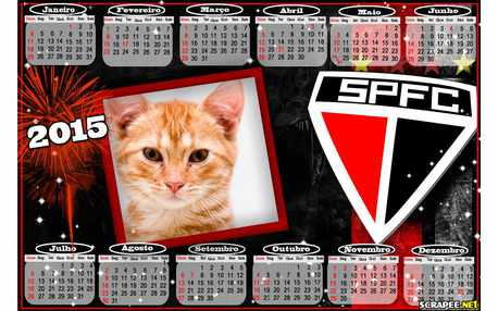 Moldura - Calendario Do Sao Paulo 2015