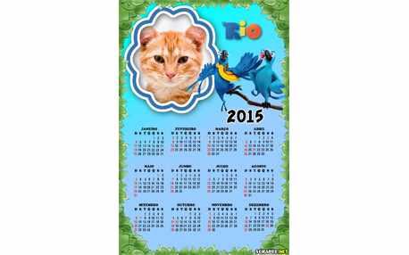 Moldura - Calendario Blu E Jade 2015