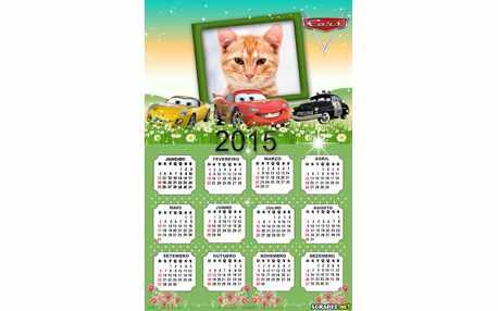 Moldura - Calendario Filme Cars 2015