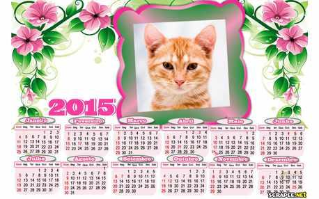 Moldura - Calendario 2015 Com Foto