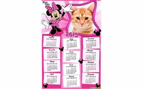 Moldura - Calendario 2015 Minnie