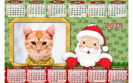 Moldura - Calendario Papai Noel