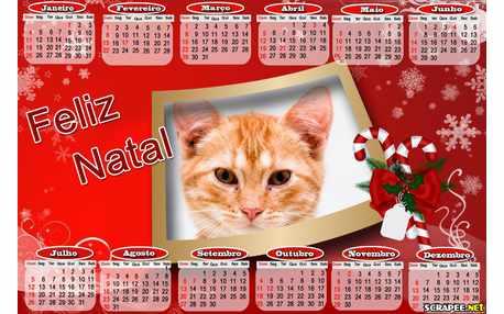 Moldura - Calendario Natalino