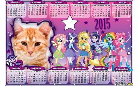 Moldura - Calendario 2015 My Little Poney
