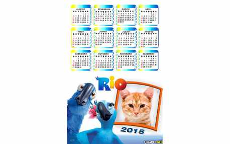 Moldura - Calendario Filme Rio 2015