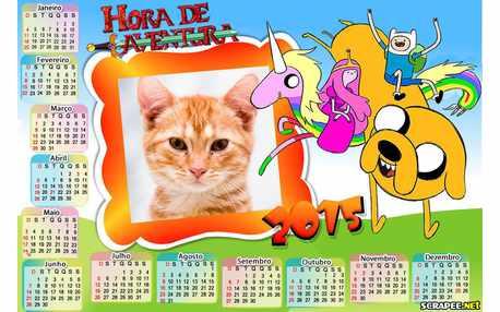 Moldura - Calendario 2015 Hora Da Abentura