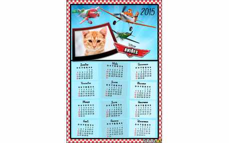 Moldura - Calendario Dos Avioes