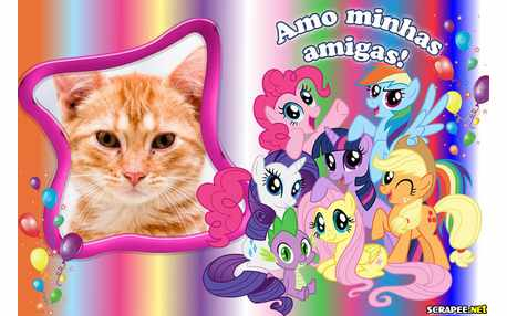 Moldura - Amigas Little Poney