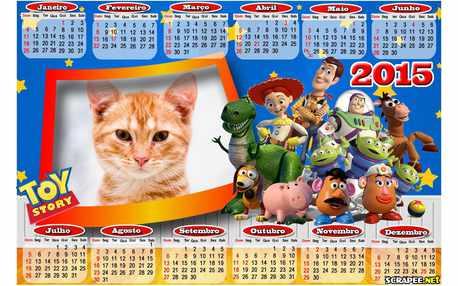 Moldura - Calendario Do Toy Story