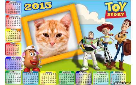 Moldura - Calendario 2015 Toy Story