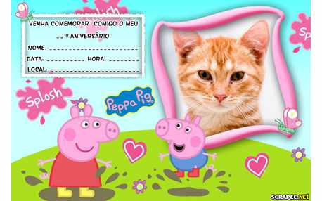 Moldura - Convite De Aniversario Peppa Pig