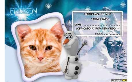 Moldura - Lembrancinha Do Olaf  Filme Frozen