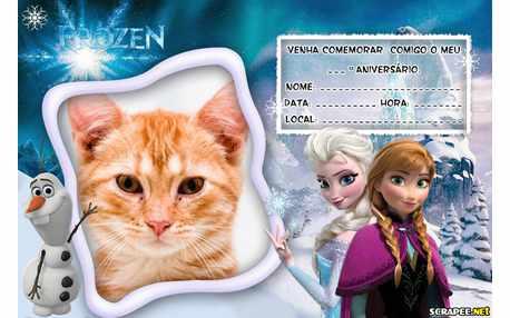 Moldura - Convite Filme Frozen