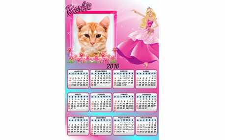 Moldura - Calendario 2016 Barbie
