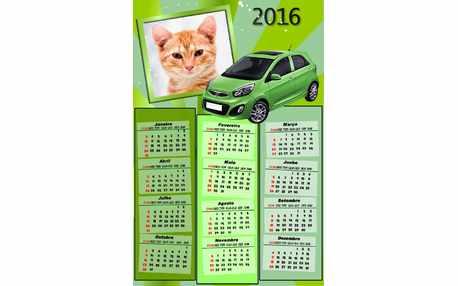 Moldura - Calendario 2016 De Carro