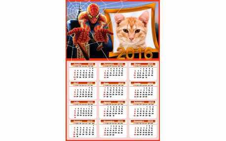 Moldura - Calendario 2016 Do Homem Aranha