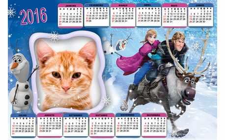 Moldura - Calendario 2016 Frozen
