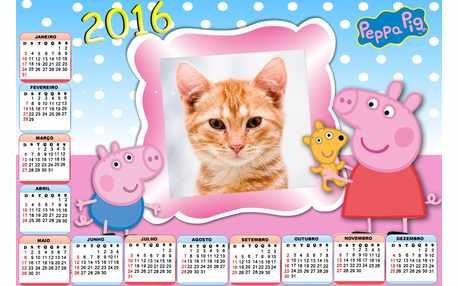 Moldura - Calendario 2016 Peppa Pig