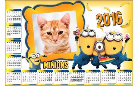 Moldura - Calendario 2016 Minions