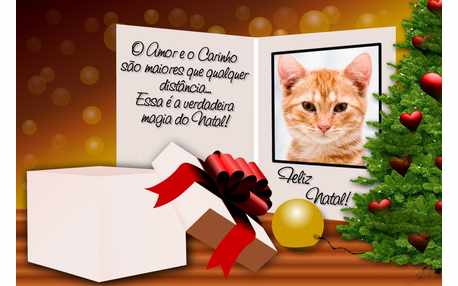 Moldura - Cartao De Natal Com Presente