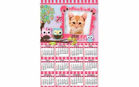 Moldura - Calendario 2016 Da Corujinha
