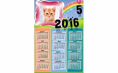 Moldura - Calendario Ano Novo 2016