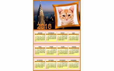 Moldura - Calendario Paris 2016