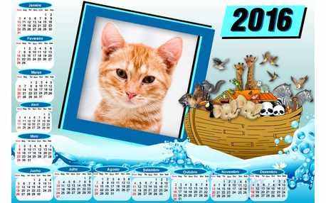 Moldura - Calendario 2016 Arca De Noe Animais