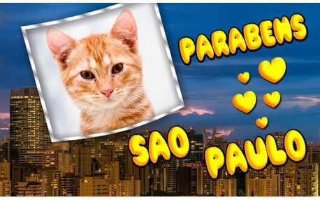Moldura - Parabens Sao Paulo 462 Anos