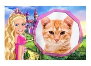 Moldura - Barbie Castelo
