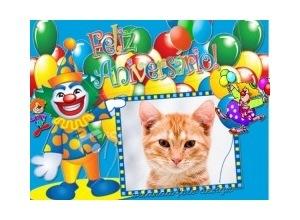 Moldura - Feliz Aniversario Circo