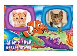 Moldura para duas Fotos - Nemo