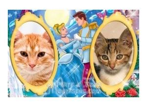 Moldura para duas Fotos - Cinderella