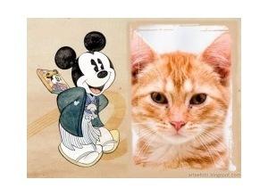 Moldura - Mickey Apaixonado